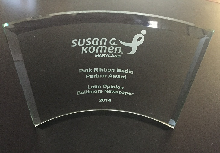Pink Ribbon otorgado a Latin Opinion como Media Partnert