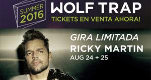 Ricky Martin Wolf Trap  banner