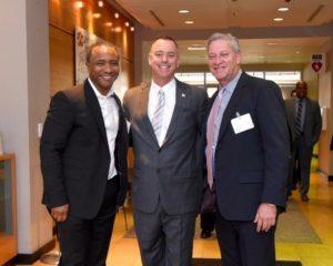 Melvin Mora, Steven McAdams, Secretario de Iniciativas Comunitarias de la Gobernacion de Maryland y Erick Oribio.