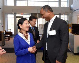 Yumi Hogan y Melvin Mora.