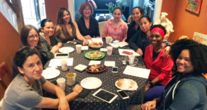 Katie Long, Allison Fomich, Aida Pinto, Emma Dams, Mary Lehman MacDonald, Viole Herrera, Consuelo Correa, Adriana Rojas, Joyce England y Alexandra Friend.